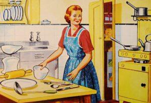 a babatervezés és a házimunka kizárólag a nők feladata volt